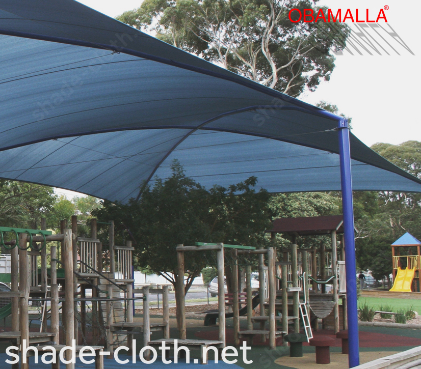dome obamalla installed on the park.