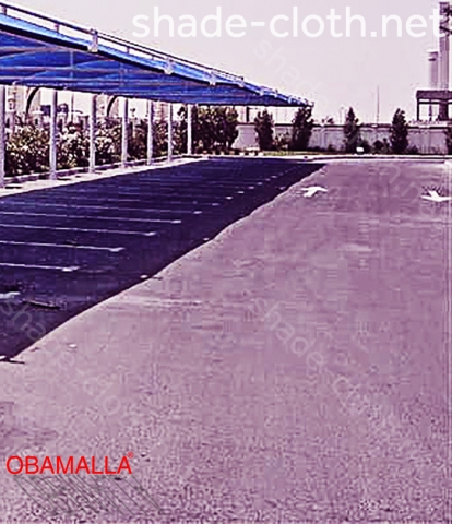 raschel mesh installed for protection of the parking.