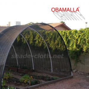 tunnel made with shade net in garden